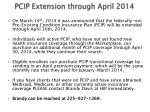 pcip extension through april 2014