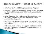 quick review what is adap