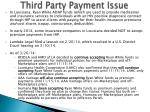 third party payment issue