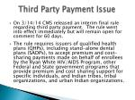 third party payment issue1
