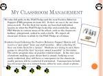 my classroom management