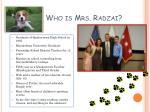 who is mrs radzai
