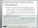 depository institution insurance