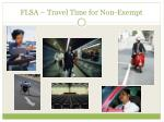 flsa travel time for non exempt