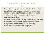 permissible conduct and speech8