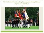 the uniformed services employment and reemployment rights act userra