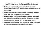 health insurance exchanges also in limbo
