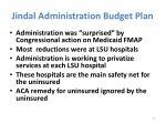 jindal administration budget plan