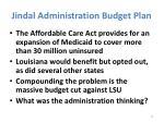 jindal administration budget plan1