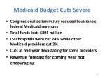 medicaid budget cuts severe