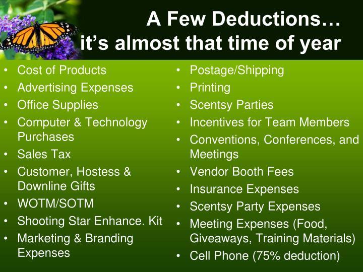 A Few Deductions…