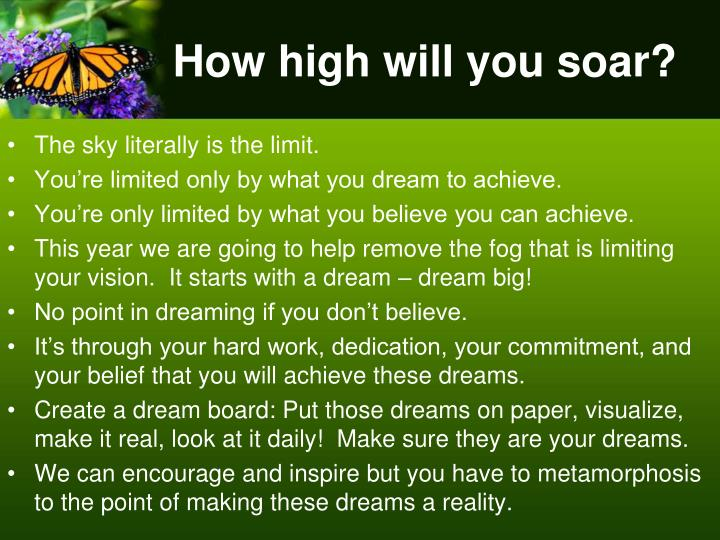 How high will you soar?