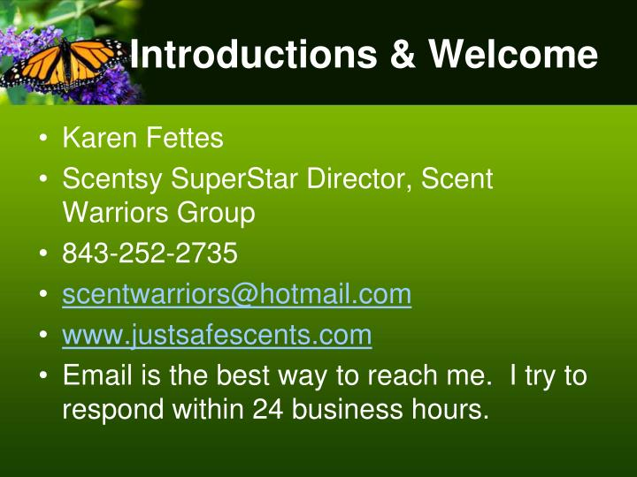 Introductions welcome