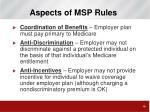 aspects of msp rules