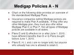 medigap policies a n
