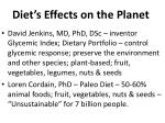 diet s effects on the planet