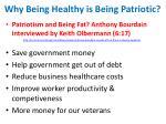 why being healthy is being patriotic
