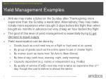 yield management examples