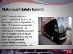 motorcoach safety summit