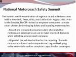 national motorcoach safety summit