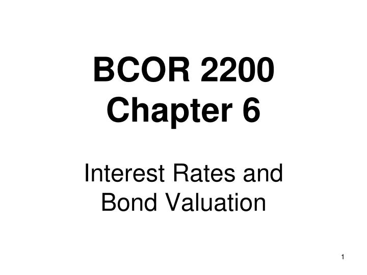 bcor 2200 chapter 6 n.