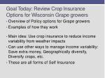 goal today review crop insurance options for wisconsin grape growers