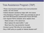 tree assistance program tap