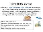 confidi for start up