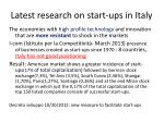 latest research on start ups in italy