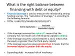 what is the right balance between financing with debt or equity