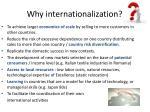 why internationalization