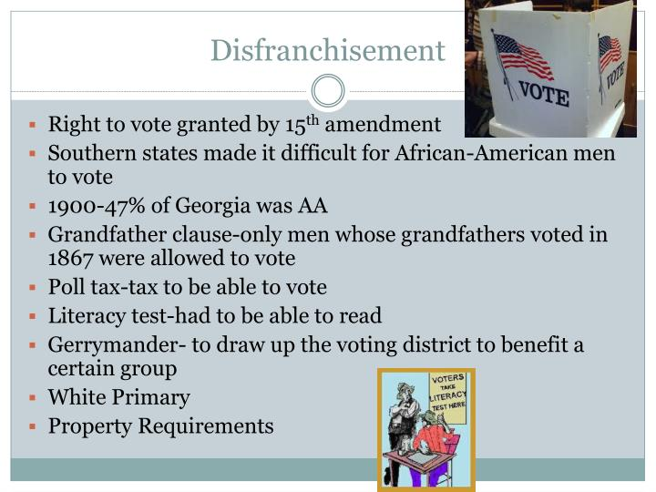 Disfranchisement