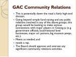 gac community relations