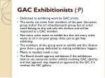 gac exhibitionists p