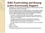 gac fund raising and gwang ju art community support