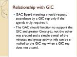 relationship with gic