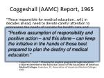 coggeshall aamc report 1965