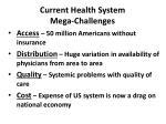 current health system mega challenges