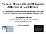 the social mission of medical education at the core of health reform