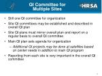 qi committee for multiple sites