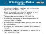 qi qa committee meeting minutes
