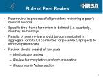 role of peer review