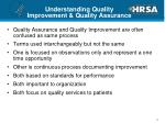 understanding quality improvement quality assurance