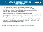 why is hospital tracking important