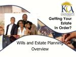 getting your estate in order