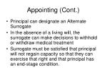 appointing cont