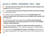 julius a rippel president 1953 1983