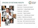 origins of rethink health