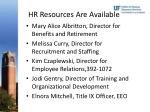 hr resources are available