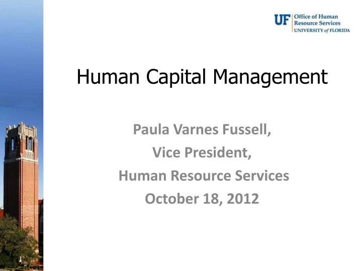 human capital management n.